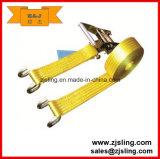 En12195-2 35mm Claw Hook Cargo Lashing Ratchet Strap