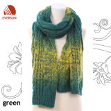 2014 100%Acrylic Mohair Women Multi Color Knitted Scarf for Winter