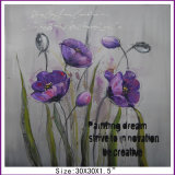 Hotsale Purple Flower Oil Painting on Canvas (LH-700611)