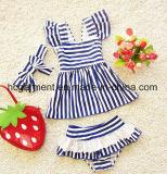 Kid Girl′s Strip Bikini, Lovely Baby Swimming Suit