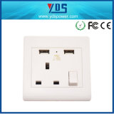 Ce UK USB Wall Socket with 5V 2.1A USB Port