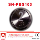 Extra Thin Round Elevator Push Button (CE, ISO9001)