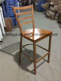 Wood Finish Metal Frame Bar Chairs in Guangzhou (FOH-BC001)