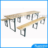 Foldable Wooden Beer Table for Outdoor Use