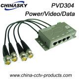 4CH CCTV Cat5 Power Video Data Combiner (PVD304)