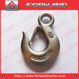 Drop Forged Stainless Steel T316 Eye Hoist Hooks with Safety Latch