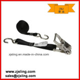"1"" Wire Hooks Ratchet Strap 1"" X 10′ Black Stainless"