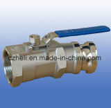 """1PC 2""""X15degree Ball Valve Ss316 with Adaptor"""