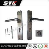Zinc Alloy Die Casting Door Lever Handle on Plate (ISO, SGS)