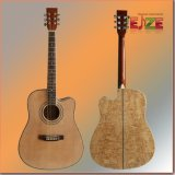 41inch Acousticguitar with Quilted Ash Plywood Back