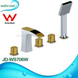 Bathroom Brass Five Holes Shower Hand Rainfall Bathtub Mixer