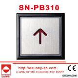 Stainless Steel Words Slice Elevator Push Button (SN-PB310)