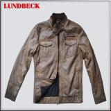 Fashion Men′s PU Jacket Simple Style Cloth
