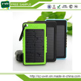 5000mAh Waterproof Solar Power Bank for iPhone6 Smartphone