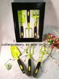5 Pieces of Aluminum Alloy Garden Tool Plastic PP + TPR Dual Color Handle