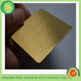 Construction Material 304 Stainless Steel Sheet Gold Brush for Outside Wall Decorate