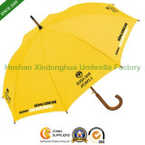 Wooden Stick Umbrellas with Customized Printed Logos for Advertising (SU-0023W)