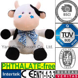 Baby Gift Soft Stuffed Embroidery Blue Stars Plush Toy Cow