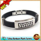 Custom Metal Silicone Bracelet (TH-mt006)