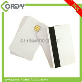 White PVC SLE4428 Contact Smart IC Card with 2 track mag stripe