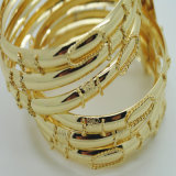 18k Gold Plated Bangle Seven in One Fashion Jewelry Bangle (B130030)