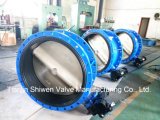 Dn1000 Pn16 Qt450 Gearbox Actuator Flange Butterfly Valve