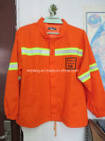 High Visible Safety Jacket with Reflective Tape Workwear