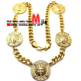 Zinc Alloy Fashion Jewelry Hip Hop Five of Medusa Pendant Necklace (XC249)