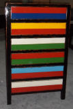 Antique Wooden Chest with Colorful Drawers Lwb764