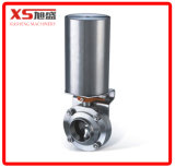 Stainless Steel Sanitary Pneumatic Air Operated Butterfly Valve