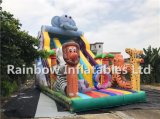 Inflatable Colourful Animal Jungle Zoo Slide for Children