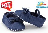 Wholesale Jean Soft Soles Lace-UPS Shoes Infant Indoor Baby Toddle Shoes