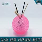 350ml Pineapple Shaped Rose Red Reed Diffuser Glass Bottle with Rattan