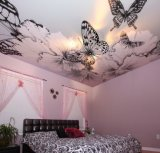 Wholesale Beautiful Butterfly Stretch Ceiling Film for Bedroom