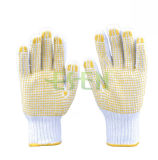 Safety Industrial Used PVC Dotted Work Gloves (D16-H2)