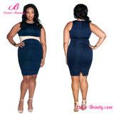 Skinny Contrast Big Size Women Party Dress
