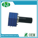 9mm Stereo Volume Control Potentiometer with Plastic Bush Wh9011bp-2