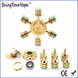 6 Arms Metal Golden Hand Spinner (XH-HS-007)