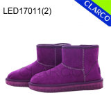 Girl and Women Winter LED Light Boots with Leather Upper