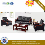 Hot Sale Office Furniture Teak Wood Genuine Leather Sofa (HX-CS100)