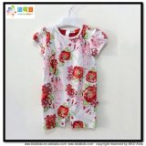 Round Neck Baby Clothes Combed Cotton Baby Girl Romper