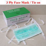 Disposable 3-Ply Nonwoven Surgical Face Mask with Tie on