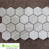 Mosaic Fooring Tile/Hexagon Mosaic Tile/Wood Grain Grey Mosaic Tile