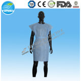 Disposable Nonwoven SMS Patient Gown Round-Neck