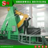 Powerful Hydraulic Waste Tire Cutter Machine Recycling The Oversize Scrap Mine/OTR Tyres