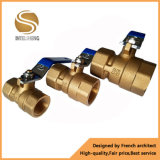 Brass 2-Way Hydraulic Ball Valve with Dn32