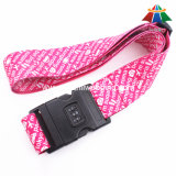 "High-Quality Nylon 2"" Fashion Pattern Heat-Transfer Luggage Strap with 3 Dails Lock"