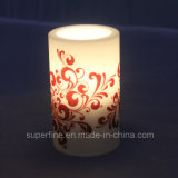 Halloween Flameless Battery Operated Warm White Color LED Candle for Decoration