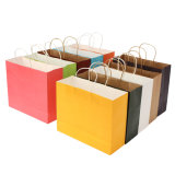 Solid Printing Large Paper Bag Simple Packaging with Ropes