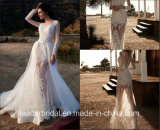 Illusion Sleeves Bridal Dress Zuhairmuard Lace Wedding Gowns Ld1164